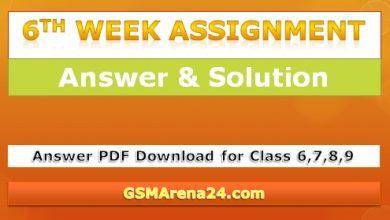 6th week Answer